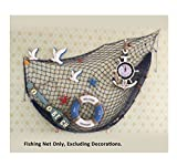 Mediterranean Decorative Nautical Fish Net - Anchor Sea Shells Home Party Decoration 39''x 79''