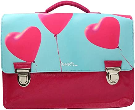 Bagtrotter Cartable Scolaire Minis/éri Turquoise//Rose