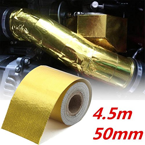 Self Adhesive Reflective High Temperature Heat Protect For Wrap Tape Heat Tape Gold