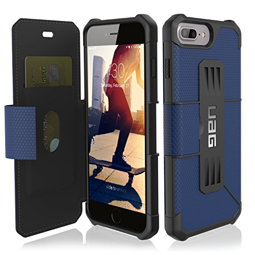 URBAN ARMOR GEAR [UAG] Folio iPhone 8 Plus/iPhone 7 Plus/iPhone 6s Plus [5.5-inch Screen] Metropolis Feather-Light Rugged [Cobalt] Military Drop Tested iPhone Case