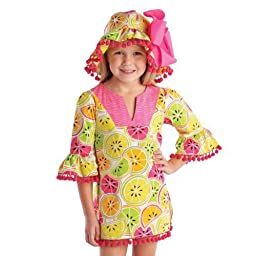 Mud Pie Baby-Girls Newborn Citrus Cover Up (3T)