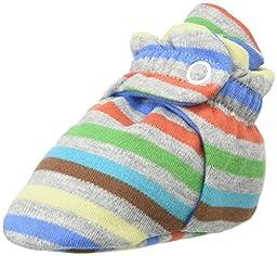 Zutano Baby Boys\' Printed Cotton Bootie, Stellar Stripe, 3M (0-3 Months)