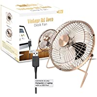 Twitfish Vintage Art Deco USB Desk Fan 6 (6)