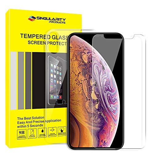 Runjnan Screen Protector for iPhone XS Max Front and Back Tempered Glass Screen Protector [6.5 inch] Ultra-Thin Touch Accurate Anti-Scratch Screen Protector Full Body Protection (2 Pack)