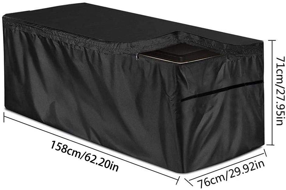 Black Patio Deck Box Cover Garden Storage Box Cover Outdoor Storage Container Cover with zipper Waterproof UV Protection Deck Boxes Case Protector Runningfish Deck Box Cover