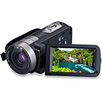 Konesky Camcorder FHD 1080P 24MP Camera with 16X Digital Zoom Remote Control Mass Storage with 3.0 LCD Screen