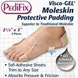 Visco-GEL Silicone Moleskin Protective Padding, 2.5 x 3 Inch - 1/Pack of 2 Sheets