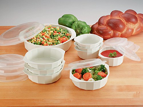 Microwave Cookware With Lids Set Containers Vegetable Steame