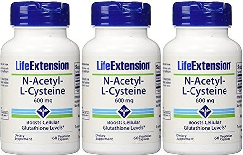 Life Extension N-Acetyl Cysteine 600 Mg, 180 Caps by Life Extension