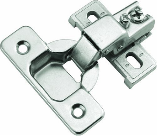 Hickory Hardware P5124-14 1/2-Inch Overlay Euro Frame Hinge, Bright Nickel 14 Bright Nickel Hinges