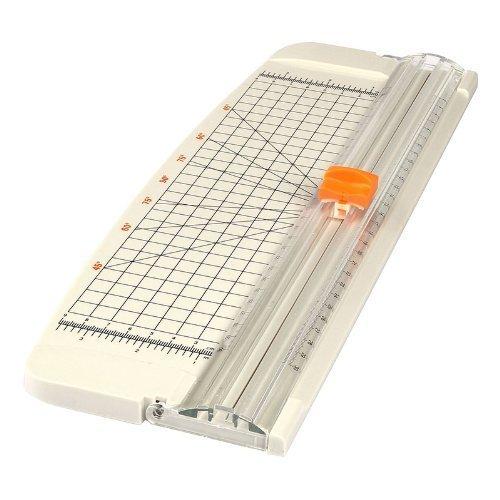 LAGUTE AZ-101 A4 Rollenschneider, Papier & Foto Schneidegerät Schneidemaschine Papierschneider, Schnittlänge 320mm, Schneidet bis zu 10 Blattes (70g/sm), Gewicht: 0.5KG Größe: 15*5.5inch *Weiß*