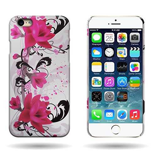 (Fit iPhone 6s Hard Case, Floral Design (Purple Flower Lily) CoverON Slim One Piece Back Protector Hard Shell Phone Cover for Apple iPhone 6s / iPhone 6 (4.7))