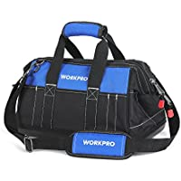 WORKPRO 16-inch Wide Mouth Tool Bag with Water Proof...