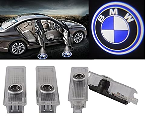 ExcellentCar Door LED Lighting Entry Laser Ghost Shadow Projector Welcome Lamp Logo Light for BMW ( Pack of (Bmw Shadow Door Light)