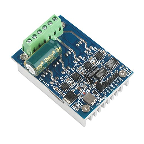 High Power Motor - DC Brush Motor Controller, DROK 16A Dual H-Bridge DC Brushed Motor Driver Board DC 5V-48V 12v 24v 48v High Power Motor Drive Control Smart Car PWM Speed Regulator