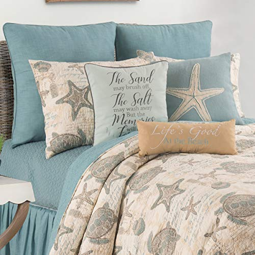 C&F Home Amber Sands King Quilt Set Coastal Tropical Beach Ocean Reversible Bedspread Coverlet 3 Piece with 2 Shams (Seashore Bedspreads Themed)