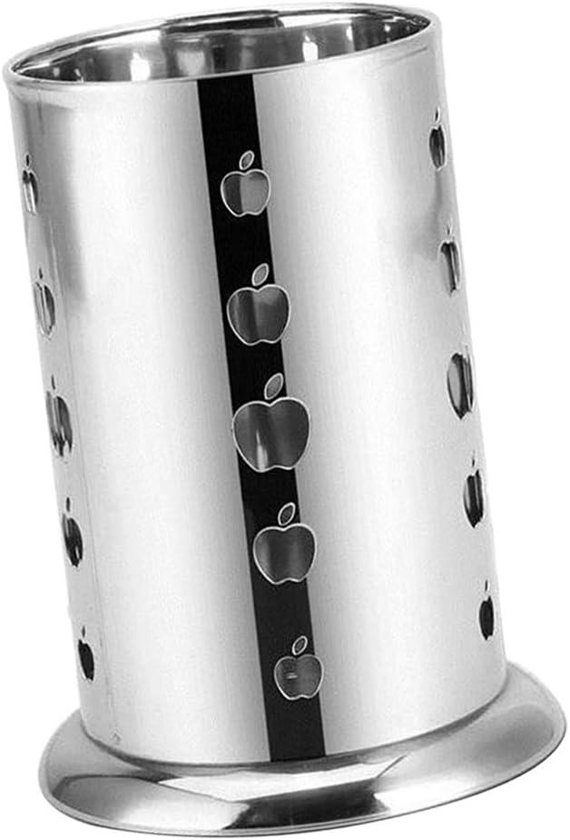 FLAMEER Titulaire Inoxydable Baguettes Cage Pot Outil de Cuisine Organiseur Stockage Drainage Porte-Couverts Cercle