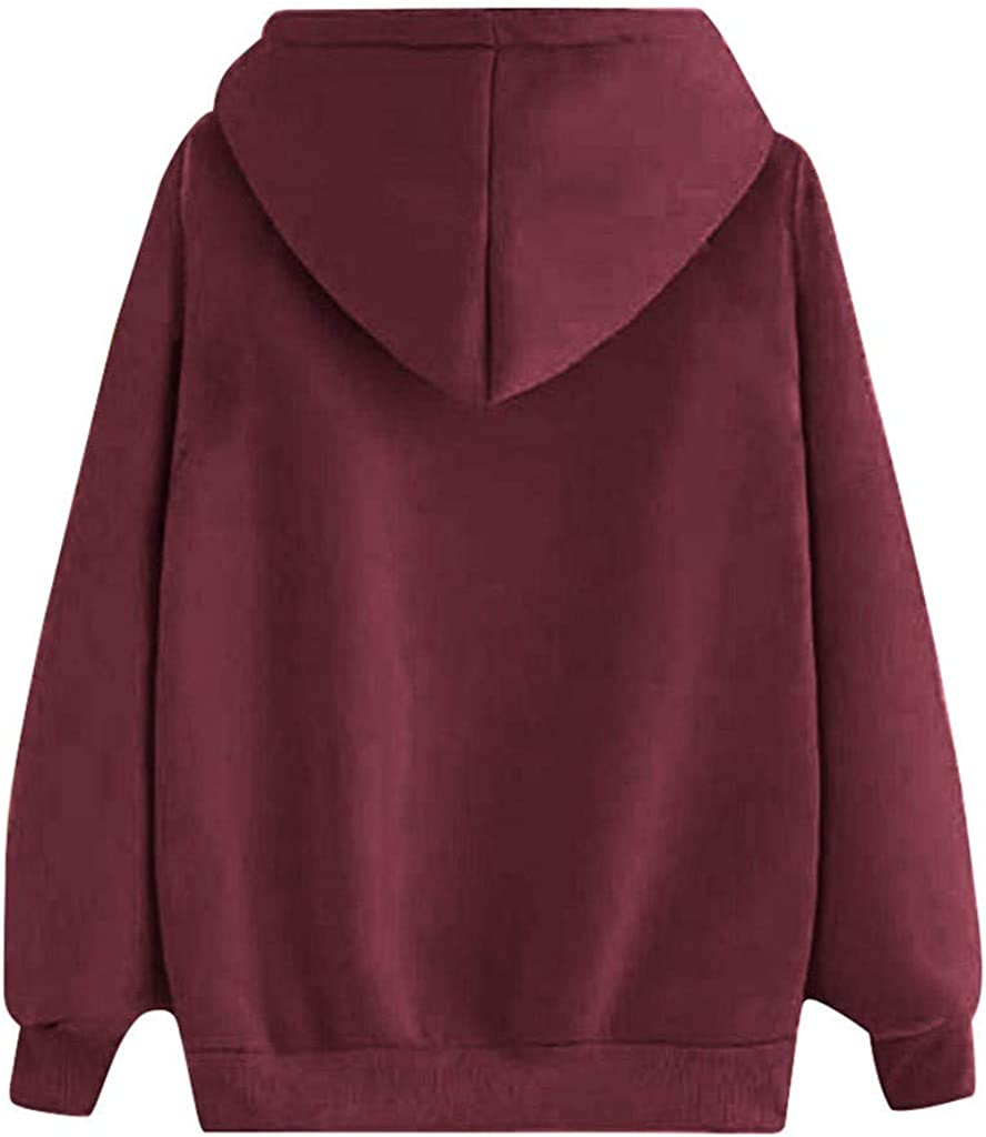 Print Hoodies for Women Limsea 2019 Fashion Long Sleeve Pullover Hooded Casual Loose Sweatshirts Top