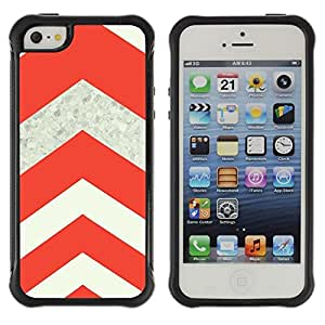 Suave TPU Caso Carcasa de Caucho Funda para Apple Iphone 5 / 5S / Sign Orange Diamong Beige / STRONG