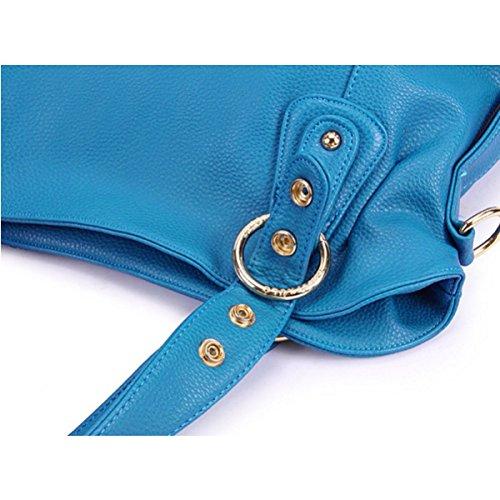 Sconosciuto Nappe Del Hobo Eleganti Spalla Borse Donne Di Blue Pelle Sacchetto In Con 0Cqr08w