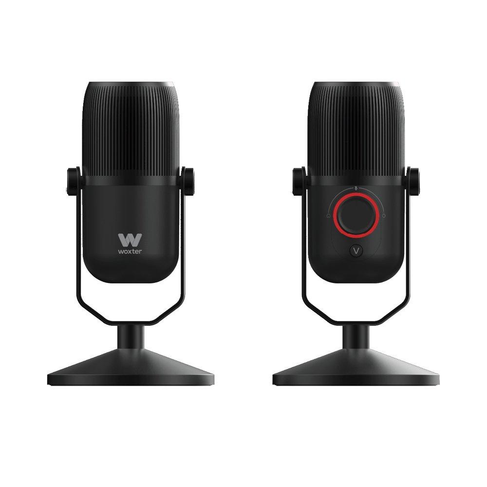 Woxter Mic Studio 100 Pro - Micrófono Profesional de condensación (cardioide y omnidireccional, 3.5mm, tecnología vertigain, Compatible con Youtube, ...