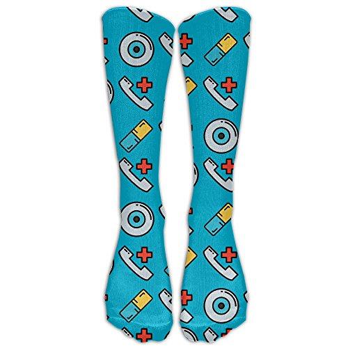 Have Fun Medical Aid Fun Knee Socks Softball Teen Knee Crew Socks by Jiushiwazi