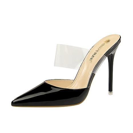 398094702b9 Amazon.com : LIANGXIE Female Models Toe High Heels Dinner Party ...
