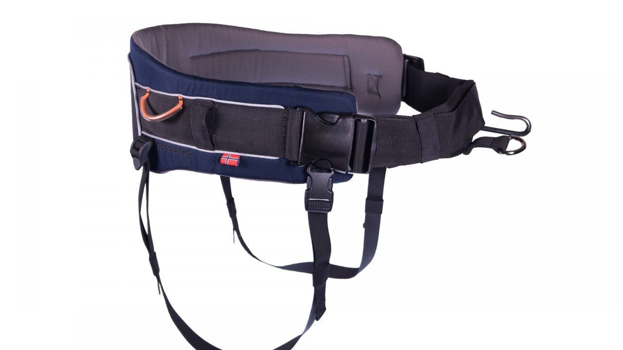 Non-stop dogwear Trekking Belt, Adjustable, Size M, Blue, for Active Dog Owners, 1 Pack
