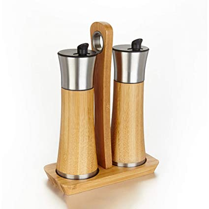 Zhangcaiyun Jarra de Especias El bambú vierte el dispensador de la Botella del vinagre, condimento