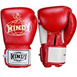 Windy Thai Training Gloves, Red, 12-Ounce