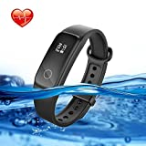 Lenovo Fitness Tracker With Heart Rate Monitor Swimming, G10 Waterproof Activity Tracker Sport Watch With Walking Pedometer Sleep Monitor Calorie Counter Call and SMS Reminder for Kids Women and Men