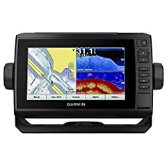 """ECHOMAP™ Plus 73cv LakeVü G3 with GT22-TM TransducerThe Combo with ConnectionsBright, sunlight-readable 7"""" keyed-assist touchscreen comboIncludes GT22 transducer for Garmin CHIRP traditional sonar plus CHIRP ClearVü scanning sonar; compatibl..."""