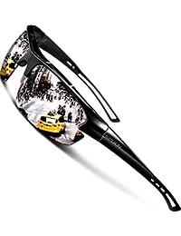 SIPLION Men's Polarized Sunglasses Sports Cycling Fishing Golf TR90 Superlight Frame