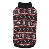 CATSPIA Tammy Round Neck Sweater for Cats and Small Animals, Small, Black