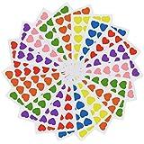 TWDRer Red Heart Scrapbook Stickers Decals Envelope Seals,Heart Sticker Labels, 84 Sheets, 2016 Decals