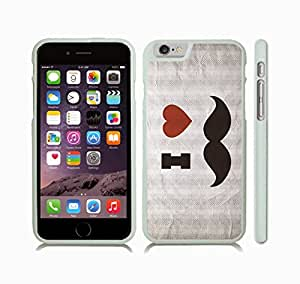 "iStar Cases? iPhone 6 Plus Case with ""Honey badger don't care"" Funny, Grey Grunge Font on Textured, Honey Badger Design , Snap-on Cover, Hard Carrying Case (White)"