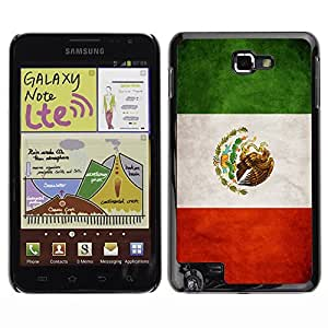 Shell-Star ( National Flag Series-Mexico ) Snap On Hard Protective Case For Galaxy Note / i717 / T879 / N7000 / i9220