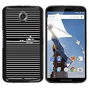 Be Good Phone Accessory // Dura Cáscara cubierta Protectora Caso Carcasa Funda de Protección para Motorola NEXUS 6 / X / Moto X Pro // Black White Girl Deep Dark Lines Lips Fashion