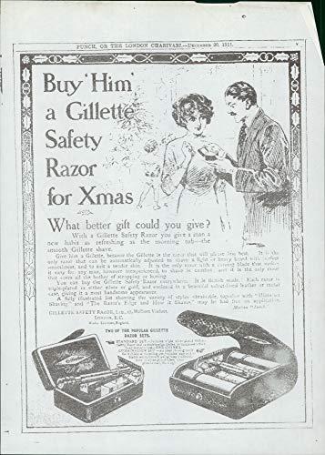 Vintage photo of Gillette:Safety Razor.