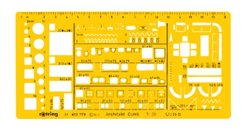 Rotring Architects Combination Drawing Template 1:100