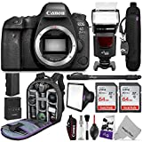 Canon EOS 6D Mark II DSLR Camera Body – WiFi Enabled w/Complete Photo & Travel Bundle – Includes: Altura Photo Backpack, Flash, 2pcs SanDisk 64gb SD Card, Monopod and Neck Strap