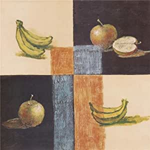'Apples and Bananas' oil painting, 8x8 inch / 20x20 cm ,printed on Linen Canvas ,this Amazing Art Decorative Prints on Canvas is perfectly suitalbe for Game Room gallery art and Home artwork and Gifts