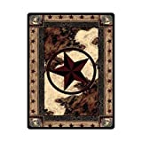 1.3 ft x 2 ft = 2.6 square ft Yoga Mat Doormat Waterproof Plush Living Room Bedroom Kitchen Indoor Outdoor Western Texas Star