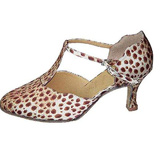 Dance Dance White YFF Red Femmes Tango 7CM Cadeaux 41 Danse LEIT Latine Danse Chaussures Hq0SxwT