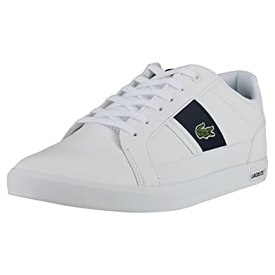 bdda96f4133375 Lacoste Men s Europa 118 1 QSP SPM Leather Trainers