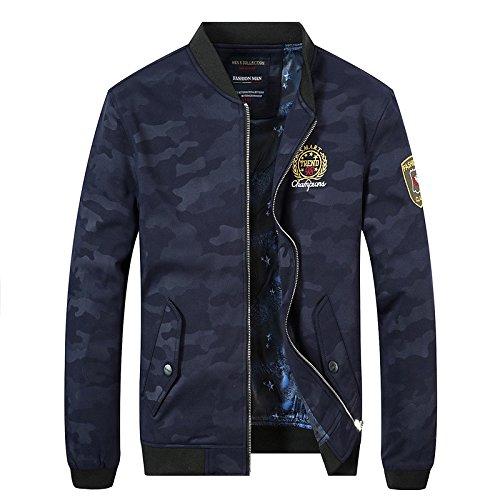 Coreana Giacca Camicia Uomini Di Versione Elegante Camouflage Blu Dimagrimento Uomo Tendenza xl UCwdIq