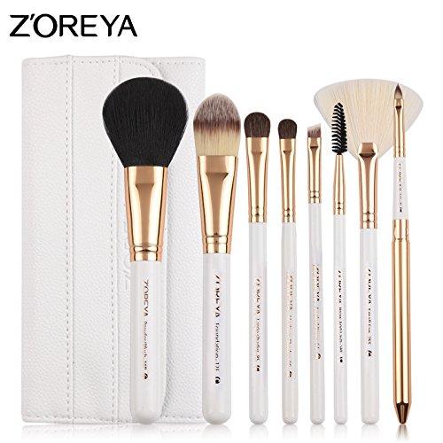 Yiwa Makeup Brushes 8 Pcs Set Professional Fashion Woman Basic Makeup Brush Kit with Bag