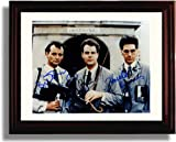 Framed Dan Aykroyd, Harold Ramis, and Bill Murray Autograph Replica Print - Ghostbusters