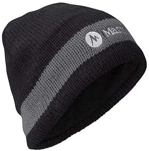 Marmot Fleece Beanie - Marmot Men's Drew Hat, Black, One Size