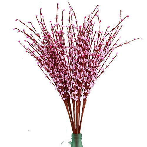 MISSWARM 10 Pieces 29.5 Long of Jasmine Artificial Flower Artificial Flowers Fake Flower for Wedding Home Office Party Hotel Restaurant Patio or Yard Decoration(Pink)